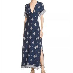 NWT FAITHFULL THE BRAND Tuula Print Maxi Dress XS
